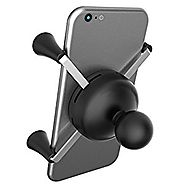 Ram Mount Cradle Holder for Universal X-Grip Cellphone/iPhone with 1-Inch Ball - Non-Retail Packaging - Black