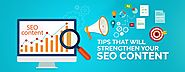 Tips that will strengthen your SEO content