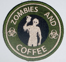 The NEW Tactical Starbucks Zombie Guns and Coffee Velcro Morale Military Patch