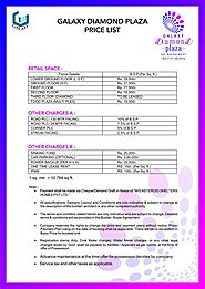 Galaxy Diamond Plaza Price List