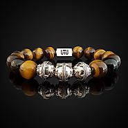 Natural Tiger Eye Luxury Silver Bracelet