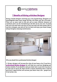 7 Benefits of Hiring a Kitchen Designer