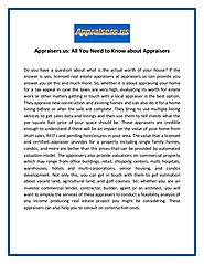 Appraisers.us: All You Need to Know about Appraisers