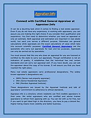 Connect with Certified General Appraiser at Appraiser.Info