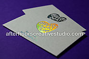Hot Foil Textured Wild Business Cards| 450gsm