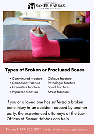 Types of Broken or Fractured Bones