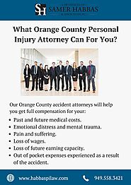 What Orange County Personal Injury Attorney Can For You?