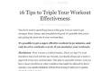 16 Tips to Triple Your Workout Effectiveness : zenhabits