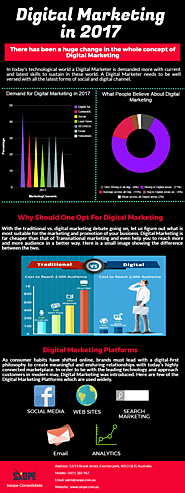 Digital Marketing Trends And Predictions For 2017 Infographic Template