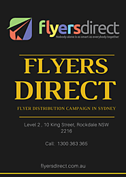 Flyer Distribution Hills District | Flyer Drops and Delivery Hills District