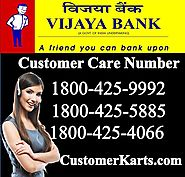 Find Vijaya Bank Customer Care Number 24*7 Toll Free Online
