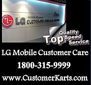 LG Mobile Customer Care | 24*7 Tech Support Number India