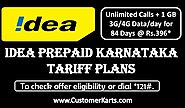 Find Latest Idea Prepaid Karnataka Tariff, Data, Roaming Plans