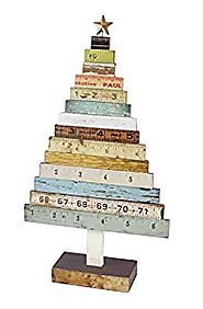 Distressed Wooden Rulers Christmas Tree