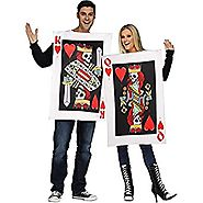 Fun World - King and Queen of Hearts Adult Costume