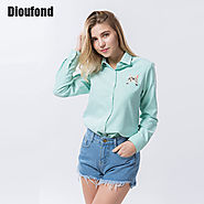 Women Blouses And Shirts White Blue Female Ladies Casual Shirt Tops & Blouse