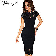 Womens Elegant Sexy Crochet Hollow Out Pinup Party Evening Special Occasion