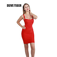 Woman Bandage Spaghetti Strap Club Party Mini Dress 16 Colors