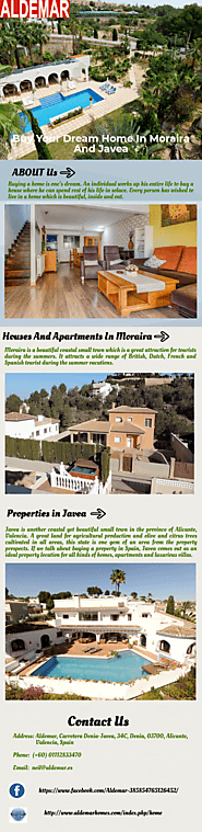 Buy Your Dream Home In Moraira And Javea