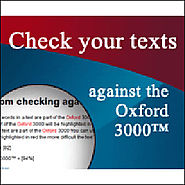 The Oxford Text Checker