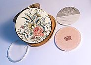 Rare unused compacts Vogue Vanities compact enamel compacts 1950s