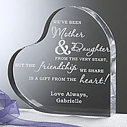 Personalized Heart-Shaped Keepsake for Mom