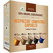 Nespresso Compatible Organic Coffee Capsules by Kiss Me Organics - Variety Pack