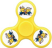 BEverTM Fidget Spinner Finger Spinner Toy Office Stress Reducer Useful for ADHD Double-faced Color with Despicable Ba...
