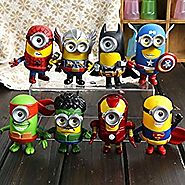 Good Value Minions Movie Despicable Me Character Toy Avengers Costume Spiderman Superman Hulk Batman Ironman American...