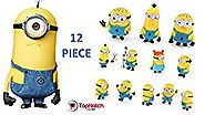 Minion Figurines - Despicable Me Figurines (12 Pc) Kids Think They Are Cute Fun Cool and Will Make the Perfect Gift -...