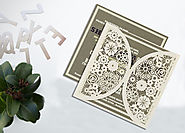 Laser Cut Wedding Invitations | D-1594 | 123WeddingCards