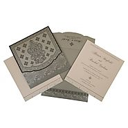 Designer Wedding Invitations - D-800E - -123WeddingCards