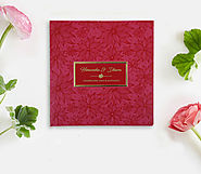 Pink Floral themed Wedding Invitation | D-1783 | 123WeddingCards