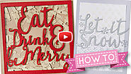 HOW TO: Pretty Quick - Eat, Drink & Be Merry! by Crafting Diva