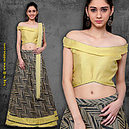 Latest Indowestern Lehengas Online at Inddus