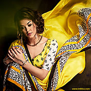 Shop Indian Style Printed Saree Online at Inddus