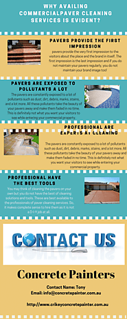 Why Availing Commercial Paver Cleaning Services is Evident? – Infographic by Crickey Concrete Painters