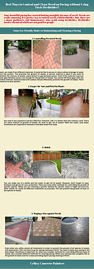 Best Ways to Control and Clean Weed on Paving | Piktochart Visual Editor