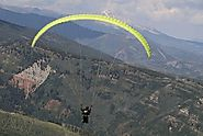 Paragliding Activity in Valley of Aspen, Vail