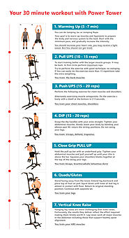 Workout infographics