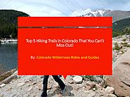 Top 5 Hiking Trails in Colorado That You Can't Miss Out!
