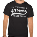 40th Birthday Tee Shirts for Men