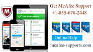 Get the help of technicians by 1-855-67-24648 McAfee Toll Free Number