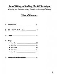 Step by Step Guide Book for Teaching the Ziff Technique of Writing and Reading