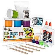 Homemade Slime Kit | How to Make Slime, Putty, and Goo | Includes Slime Containers, Ingredients, and Supplies for 4 D...