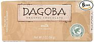 DAGOBA Organic Milk Chocolate Candy Bar