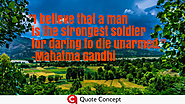 Mahatma Gandhi Quotes-Popular Quotes Of Gandhiji - Quote Concept