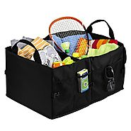 Fheimin® Car trunk organizer,premium multipurpose collapsible cargo solution for groceries storage - Folding console ...