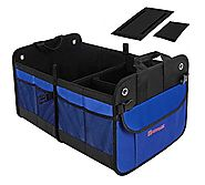 Autoark Multipurpose Car SUV Trunk Organizer,Durable Collapsible Cargo Storage,Waterproof Bottom With Velcro Strips t...