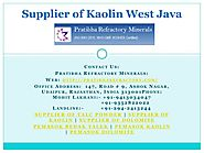 Supplier of Kaolin West Java